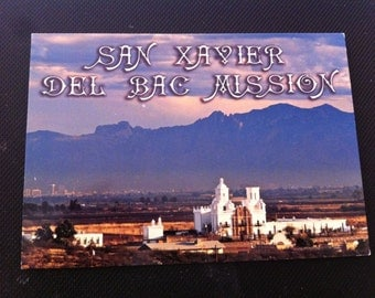 San Xavier del Bac Mission in Tuscon Arizona, Spanish Catholic Mission, Postcard,