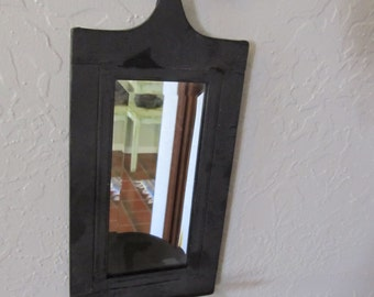 Vintage Metal Candle Holder and Mirror