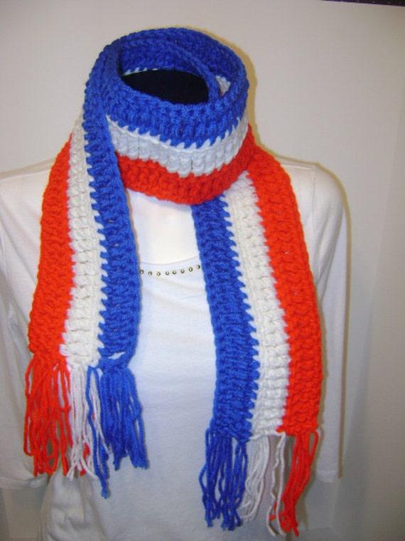 patriotic scarf handmade scarf scarves by apoetwithalefthook