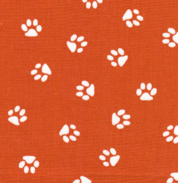Clemson Tiger Paw Twill Fabric By Fabric Finders