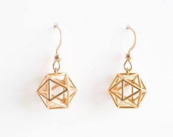 Icosahedron Earrings