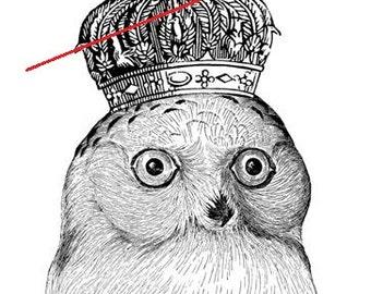 Vintage owl - Temporary tattoo