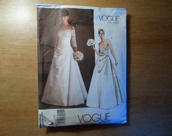 Vogue FW V2842 Bridal Gown Size 18-22