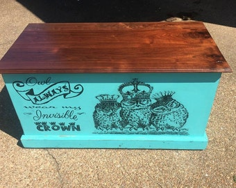 Hope chest, Cedar Chest, Kids furniture, Dorm room, Storage chest, Teen Room Storage,  Bench, Painted Bench, Storage Bench, Storage box