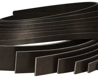 "Black Cowhide Strip 1-1/4"" x 72"" 4530-20"