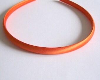 orange headband Satin children's alice band Halloween headband idea
