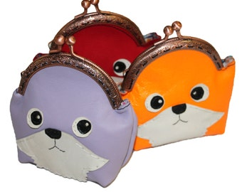 Leather purses Fox