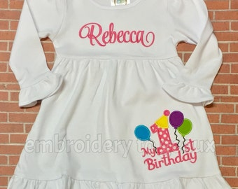 First Birthday Dress, My First Birthday Dress, Girls Birthday Dress, First Birthday, Birthday Party Dress, First Birthday Outfit, Birthday
