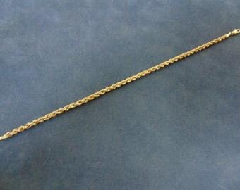 Vintage Estate 10k Gold Rope Bracelet 1.3g E2361