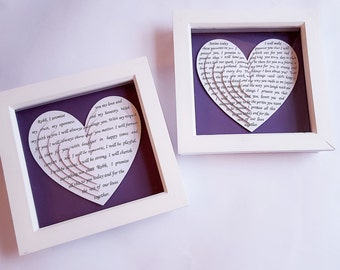 framed wedding vows gifts for her gifts for him wife husband
