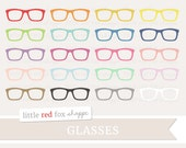 Glasses Clipart, Clip Art Hipster Eyewear Frame Eye Nerd Men Women Father Contact Lens Cute Digital Graphic Design Small Commercial Use