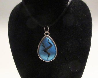 Steven Universe Lapis Lazuli Inspired Cracked Gem Necklace