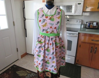 Granny Kitty Apron,hand made, Maine Made