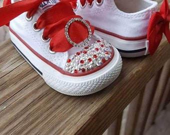 Converse sneakers with Swarovski crystals
