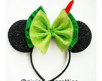Peterpan Ears, peterpan, never land, mouse ears, Minnie mouse, mickey mouse, disney trip, first birthday, lost boy