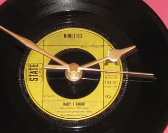 "Rubettes baby i know 7"" vinyl record clock"