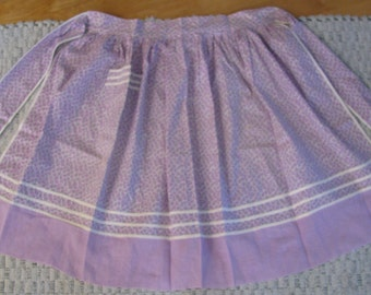 Vintage Purple and White patterned Apron