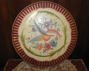 Vintage Bird of Paradise tin