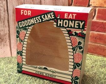 1950s Honey Comb Carton/Box with cellophane window