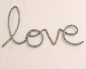 Love - woolen word - wall decoration