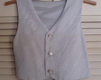 Child's Silver Grey Waistcoat.