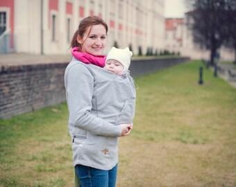 Babywearing sweatshirt, mother and baby, cotton, baby carrying sweatshirt.