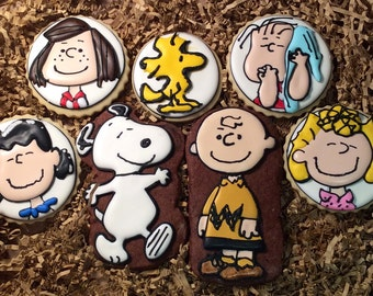 Decorated Charlie Brown & the Peanuts Sugar Cookies