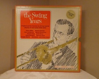The Swing Years, 6 Record Album Set, RCA by Reader's Digest, The Great Bands, Glenn Miller, Tommy Dorsey,Duke Ellington, Magazine Included