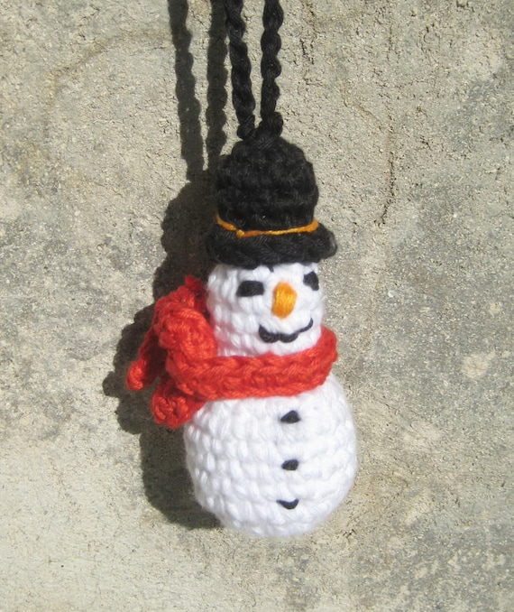 Easy Christmas Amigurumi : Christmas tree ornament snowman crochet pattern amigurumi