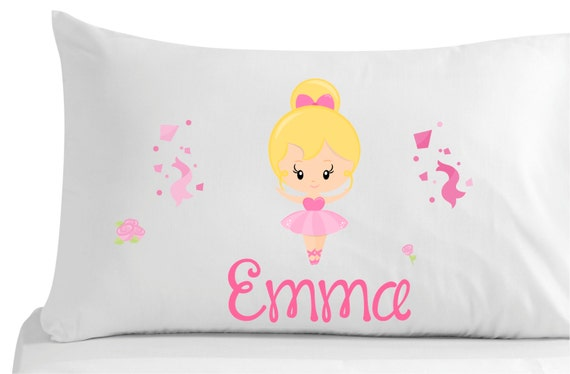 Cute Tumblr Pillows Etsy : Items similar to Personalized, pillow case, cute ballerina- bedroom decor- nursery decor-girls ...