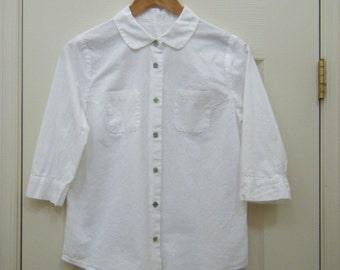 woman's shirt, cotton shirt, white shirt