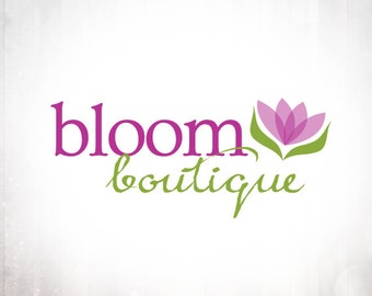 Premade Logo Design • Bloom Flower
