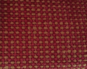Woven - Pink - Yellow - Upholstery Fabric by the Yard