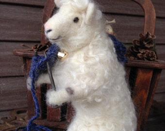 Needle Felted Sheep, Knitting Sheep,  from 100% Irish wool