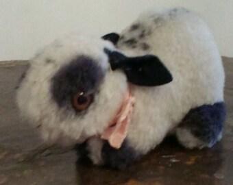 Steiff vintage timmie rabbit black and white smallest size