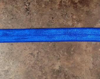 Royal blue 5/8 fold over elastic 10 yards