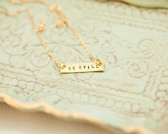 Be Still Necklace-Gold