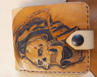 Handmade wallets Leather-Skull-Wallet
