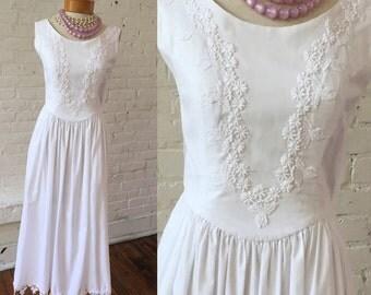 White Vintage Boho Dress