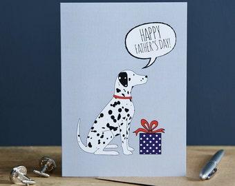 Dalmatian Father's Day card