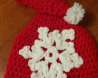 Elf Stocking Cap, 3-6 month stocking hat, Christmas hat