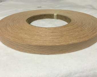 "red oak pre glued  wood veneer edge banding 13/16""x20'"