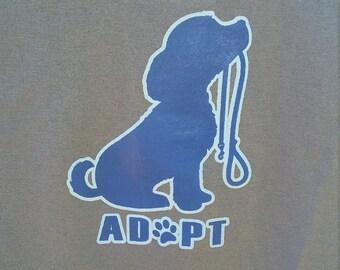 Adopt Blue T Shirt Adopt Shirt Blue Adopt Shirt