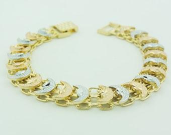 Gold Plated crescent Shape Bezmark Bracelet