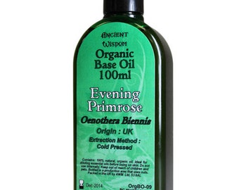 100ml Organic Base Oil - 100% Pure - EVENING PRIMROSE Base Oil