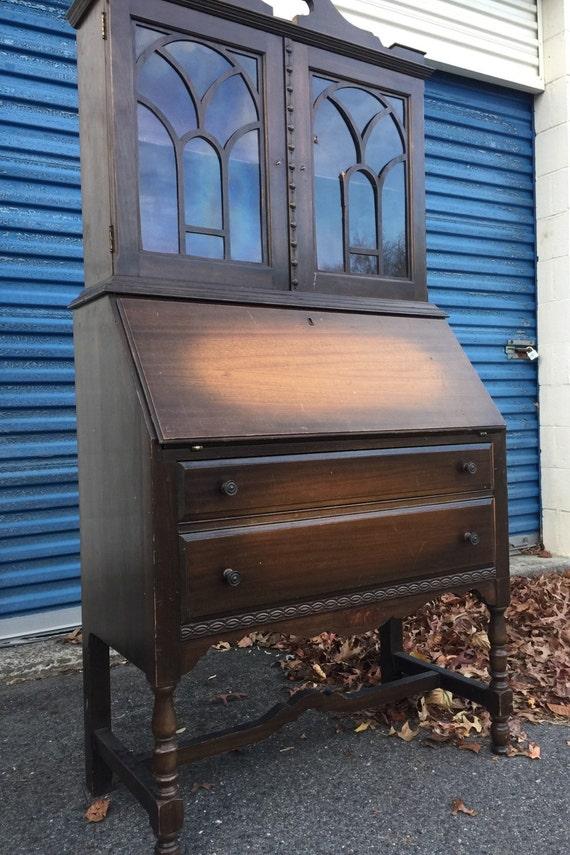 Vintage Tall Secretary Desk