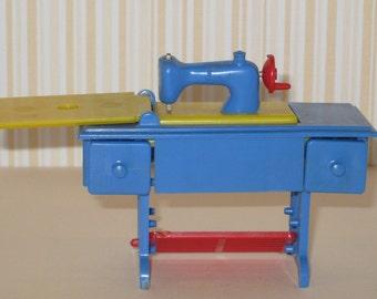 1950s Renwal Hard Plastic Sewing Machine Cabinet Dollhouse Furniture