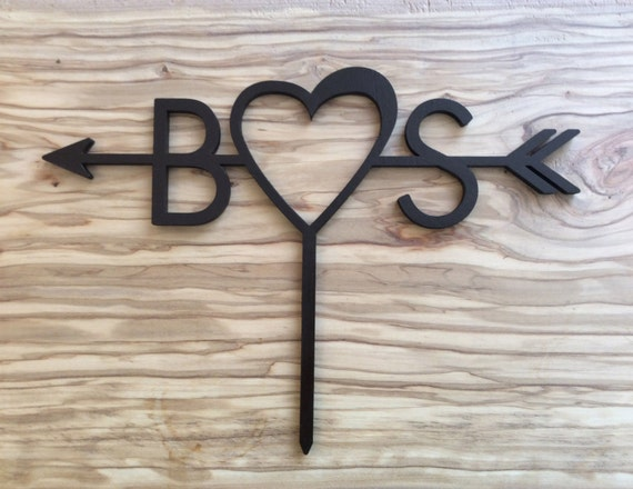 B♥S Custom Cake Topper for Wedding, Birth day, Anniversary