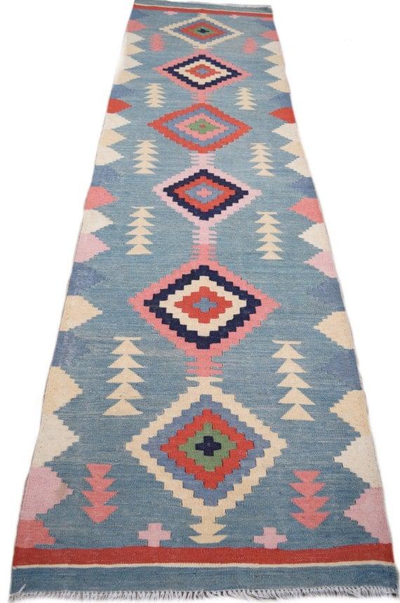 Size-10'6x2'11ft beautiful stunning kilim runner ,handmade kilim ,tribal kilim