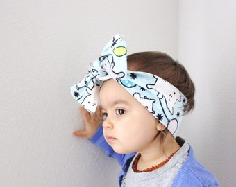 Flannel mouse and balloon headwrap